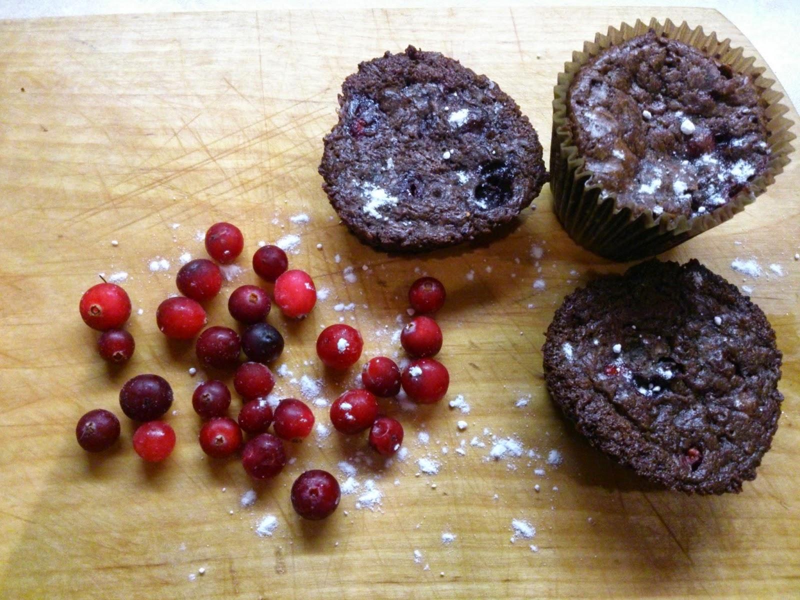 Рецепт шоколадного брауни с клюквой