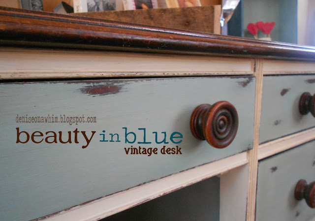 Blue Desk Makeover: My Favorite Posts from 2013 via http://deniseonawhim.blogspot.com