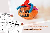 kit récréatif Halloween citrouille en papier
