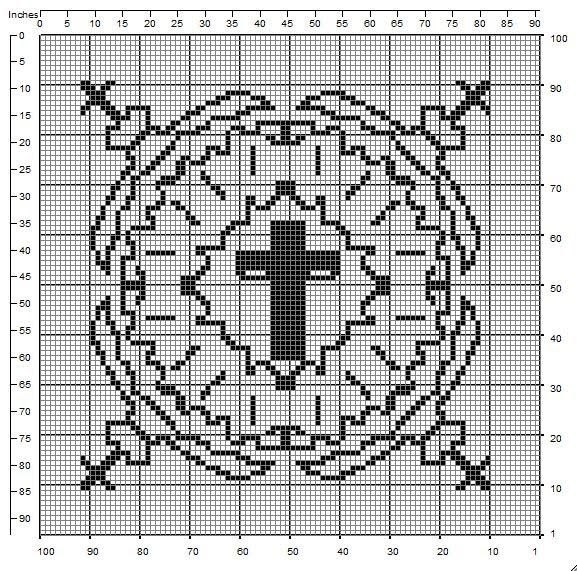 Thrifty Crocheter Filet Crochet Chart Free Cross Pattern