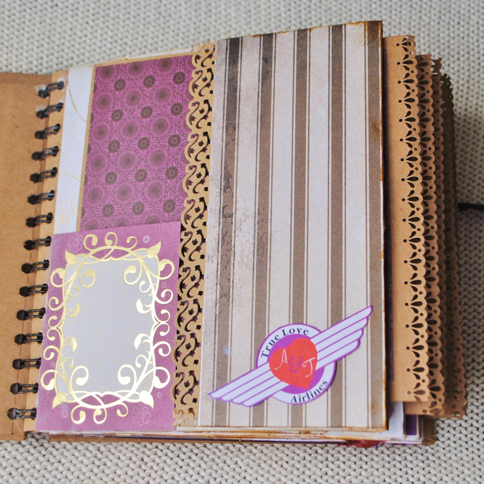 How to scrapbook wedding album - And Here Is The Last Photo You Can See A Sample How The Scrapbook Pages Look Like Inside This Particular One Doesn T Have Any 3d Embellishments