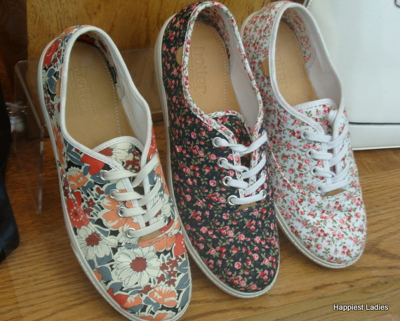 floral print trainer shoes