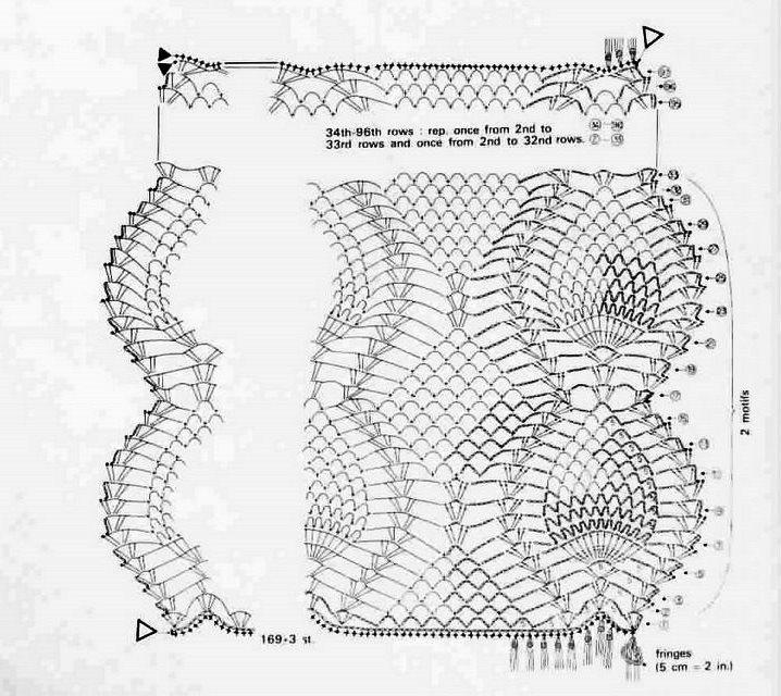 Solo esquemas y diseños de crochet: CAMINO DE MESA PIÑA