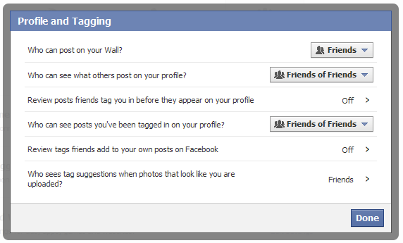 facebookプライバシー設定 プロファイルとタグデフォルト:ESETセキュリティブログ