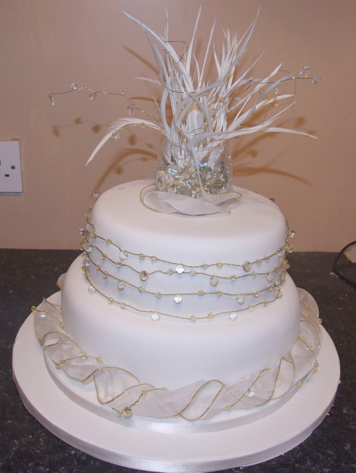 Special Occasion Cakes Simple contemporary wedding cake
