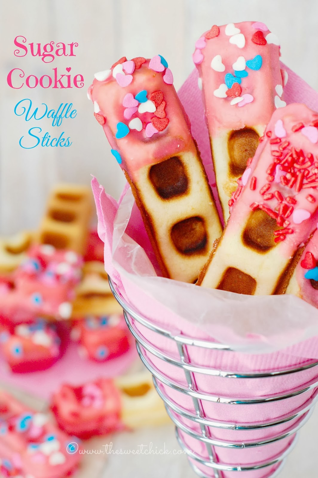 Sugar Cookie Waffle Sticks by The Sweet Chick