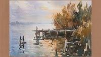 Cambio climático y la pintura de ríos y lagos