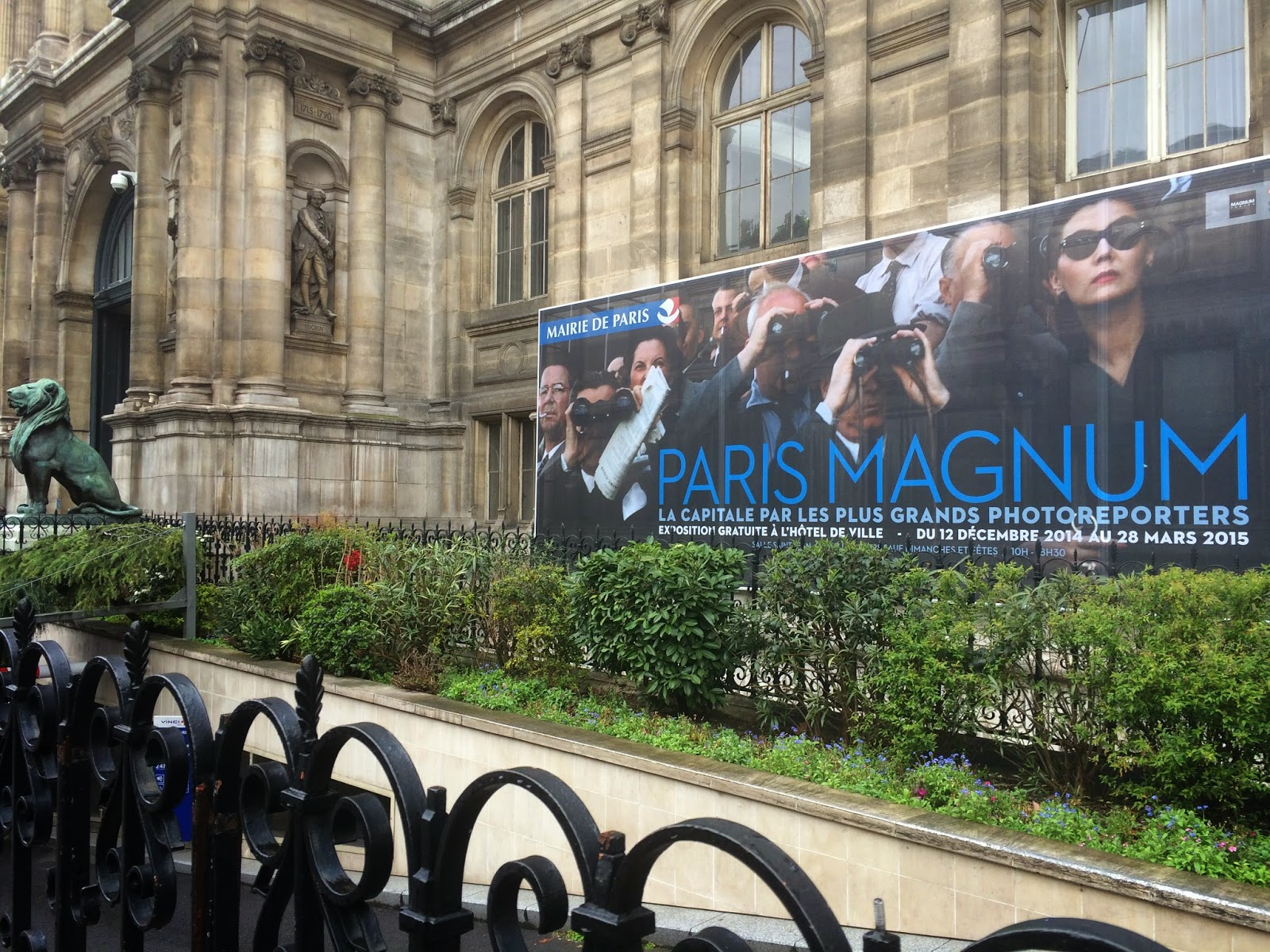 Exterior of the Paris Magnum exhibition, Paris