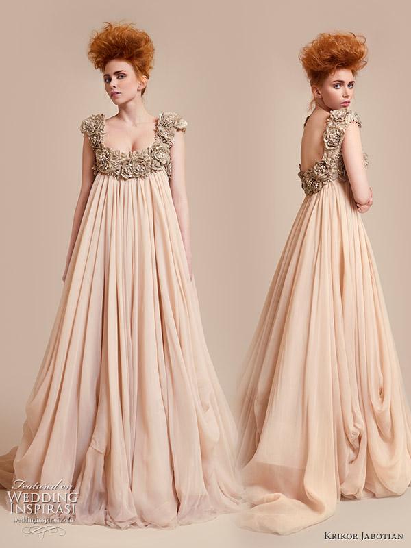 Krikor Bohemian Wedding Gown Dazzling Neckline