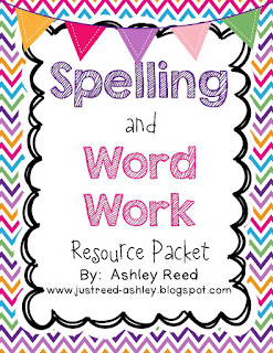 https://www.teacherspayteachers.com/Product/Spelling-and-Word-Work-Resource-Packet-824919