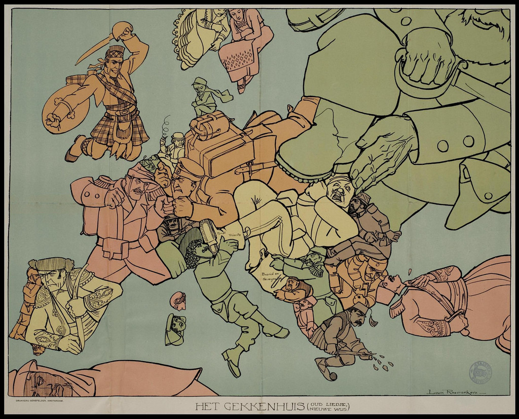 World of mysteries europe in 1914 a satirical outlook for Europe in november