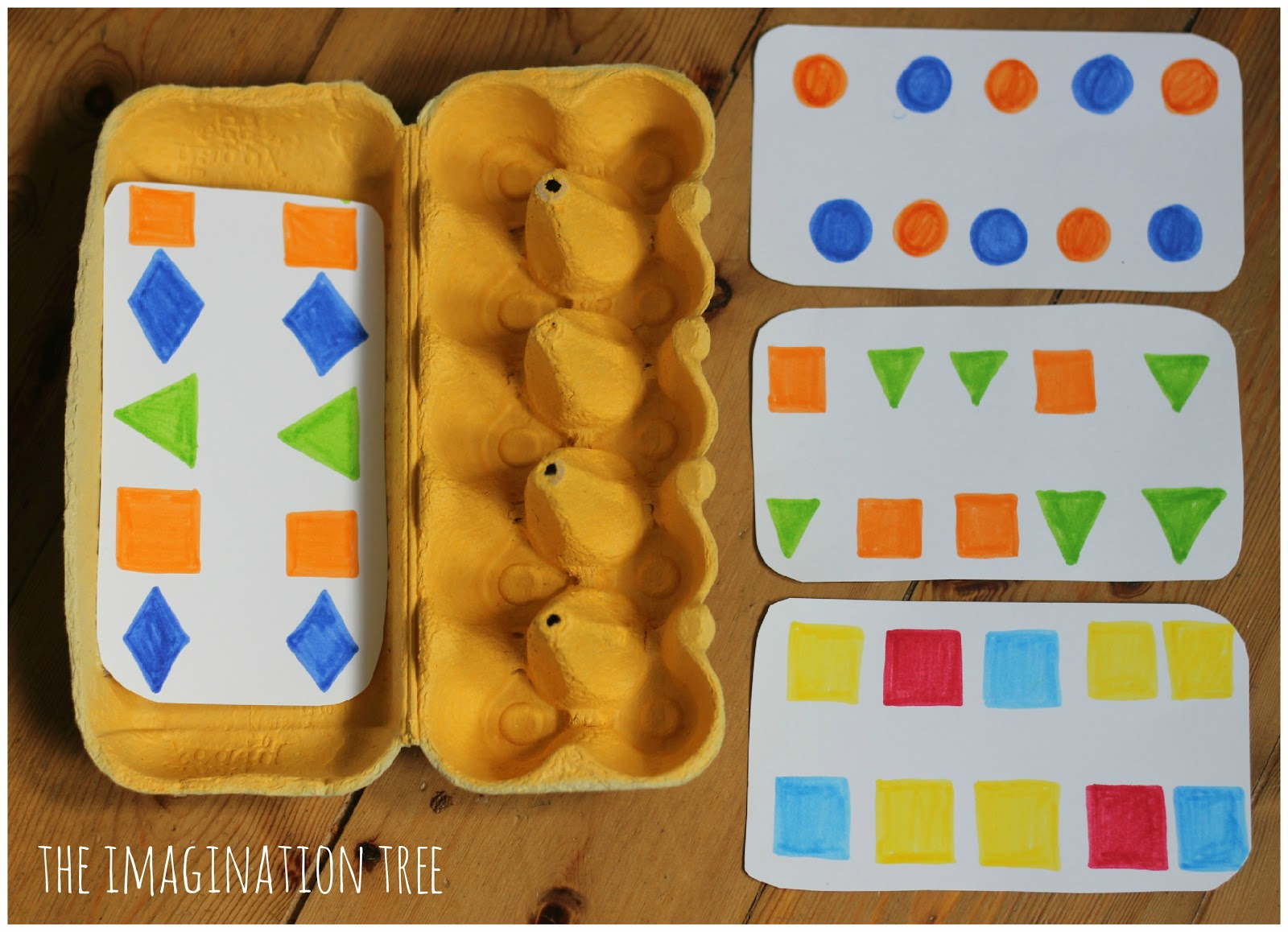 making patterns with lego and egg cartons the imagination tree