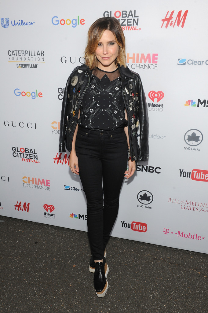sophia bush attends global citizen festival 2015