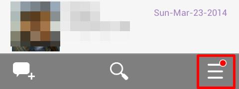 menu option in viber