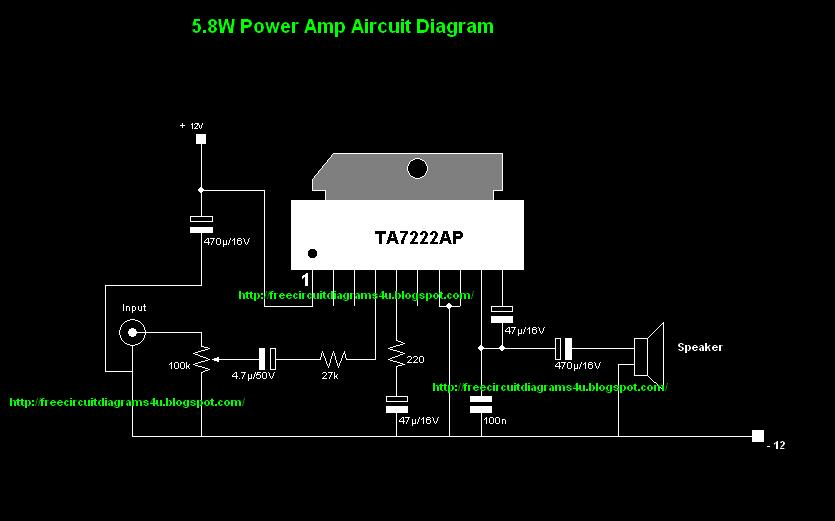 Free Circuit Diagrams 4u Simple 12v Power Amp Circuit Diagram