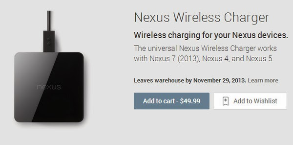 Nexus Wireless Charger for Nexus 5, 4, 7