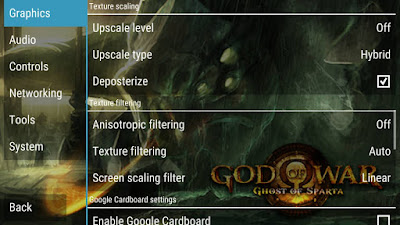 Setting PPSSPP God Of War Ghost Of Sparta