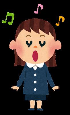 歌のイラスト「幼稚園・女の子・合唱」