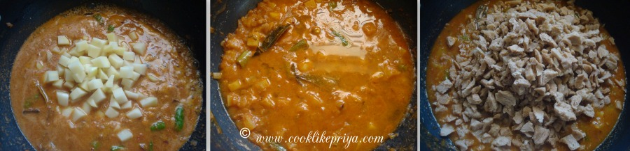 how to cook soya mince curry