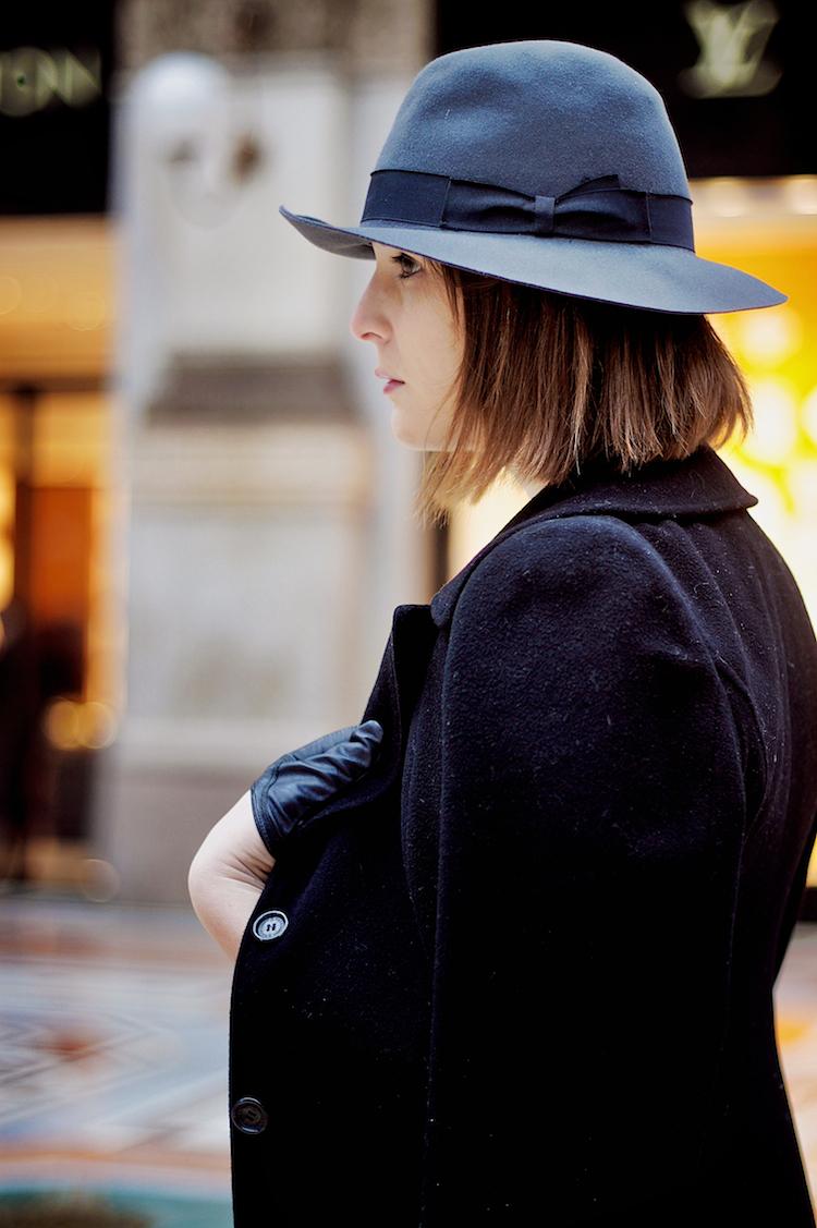 cappello grigio borsalino