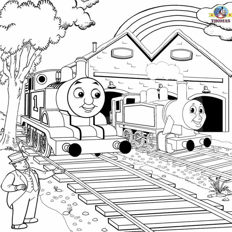 free thomas the train coloring pages - free printable railway pictures thomas scenery drawing for