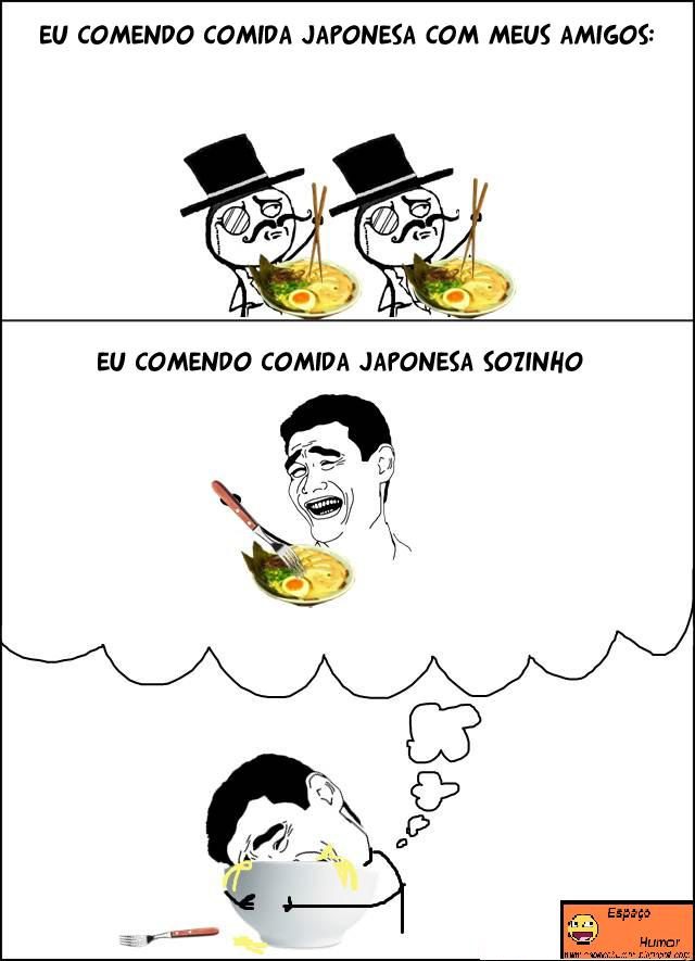 Espaço Humor: Tirinhas De Memes: Comida Japonesa.