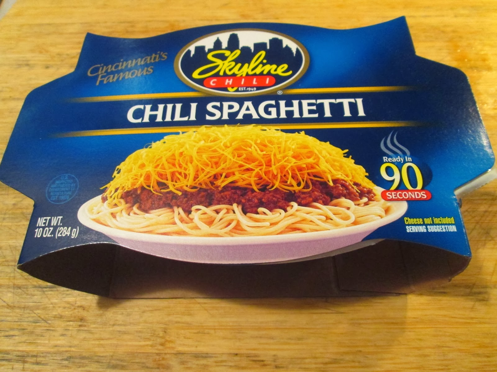 ... Skyline 3 Way – Chili, Spaghetti, Cheese w/ Side of Oyster Crackers