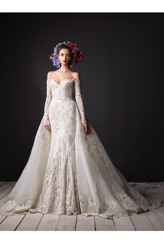 فساتين زفاف فخمة للمصمم رامي العلي 2015 , فساتين زفاف ملكية 2015