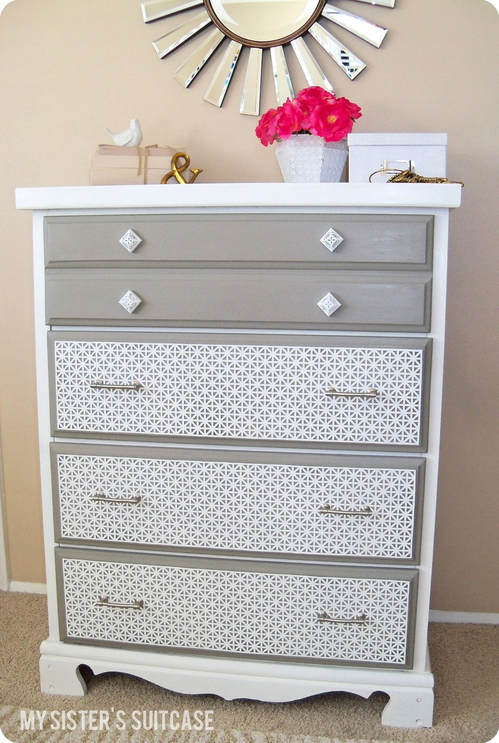 Remodelaholic decorative dresser makeover How to renovate old furniture