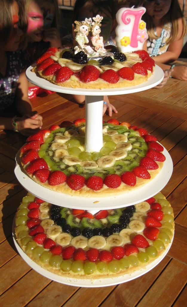 La kambusa di mamma cocci torta di frutta a piani for Piani artistici di 2 piani artistici