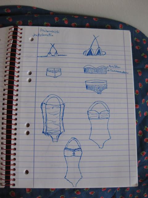 ompelu vaatteiden piirtäminen