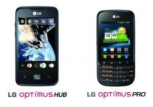 Harga spesifikasi LG Optimus HUB E510 And LG Optimus Pro C660 Telkomsel