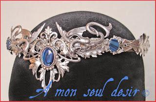 couronne diademe tiare bijou medieval serpent snake renaissance crown diadem tiara