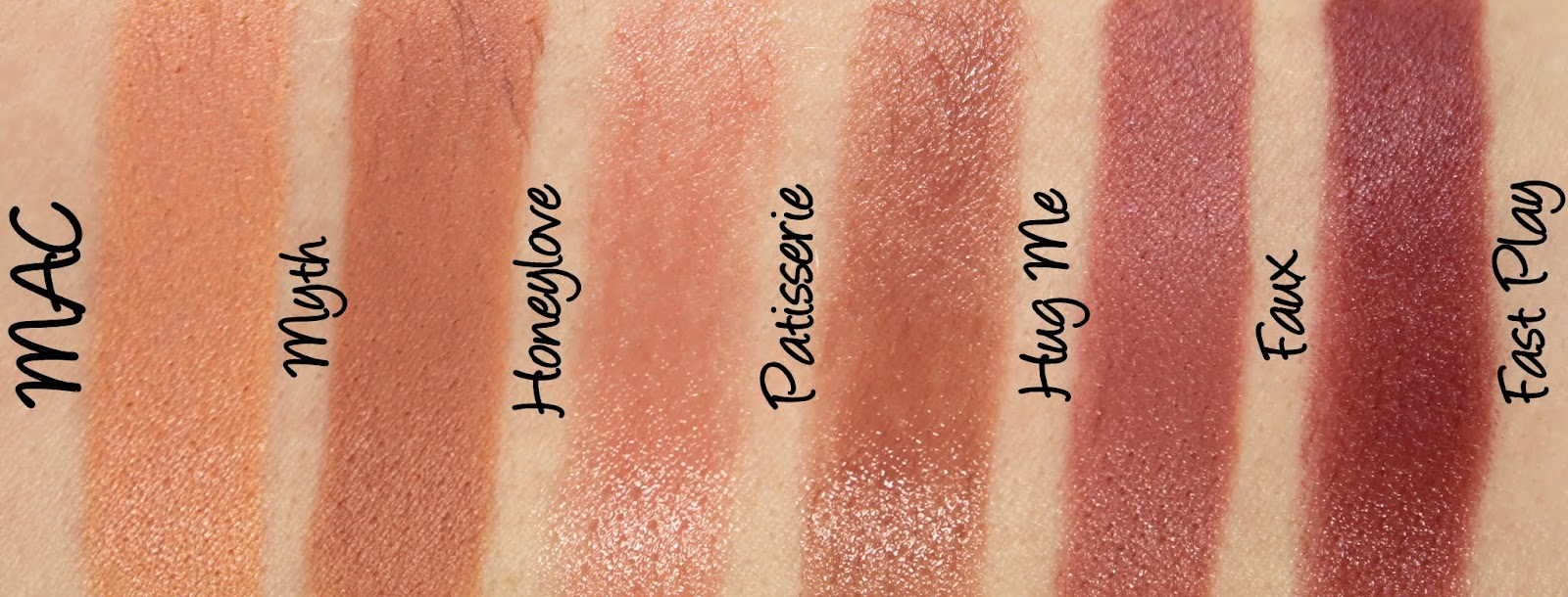 MAC Permanent Nude & Neutral Lipstick Swatches & Review Part One ...