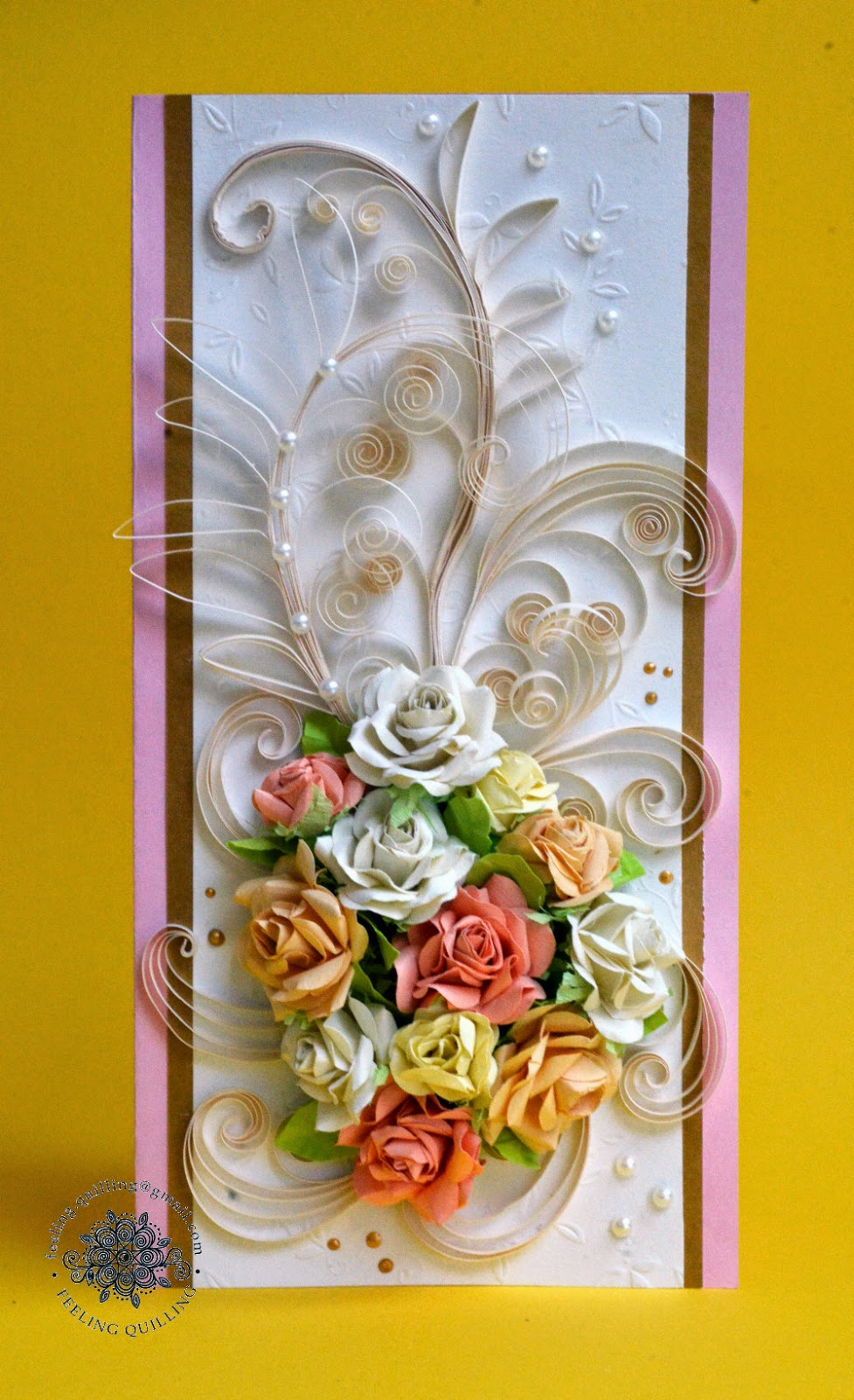 Квиллинг открытки к свадьбе 23