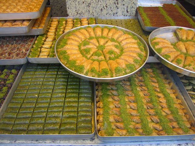 Baklava in Istanbul, Turkey from Hafiz Mustafa in Sultanamhet.