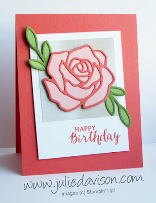 Stampin' Up! Rose Garden Thinlit + Rose Wonder stamp set from 2016 Occasions Catalog #stampinup Created by Julie Davison www.juliedavison.com