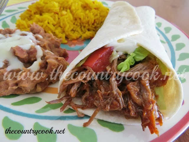 Crock Pot Mexican Shredded Beef - The Country Cook