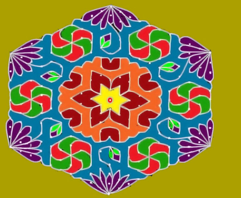 the gallery for gt latest rangoli designs with dots for