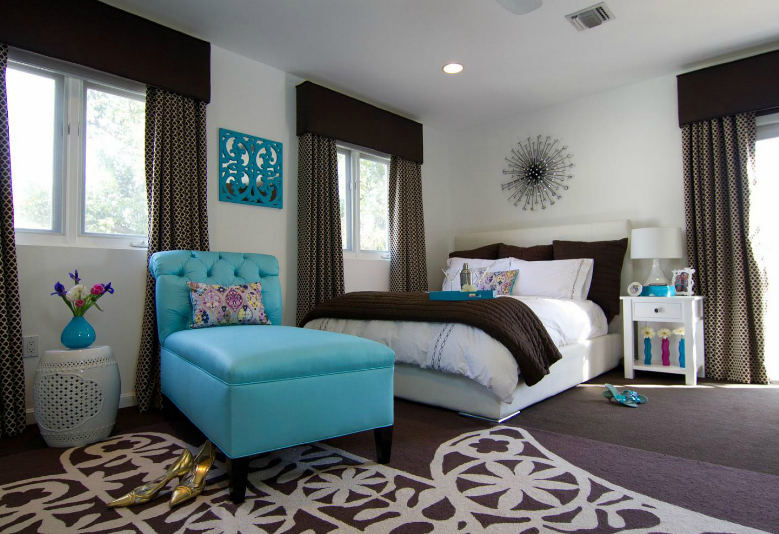Blue Brown Bedroom Ideas