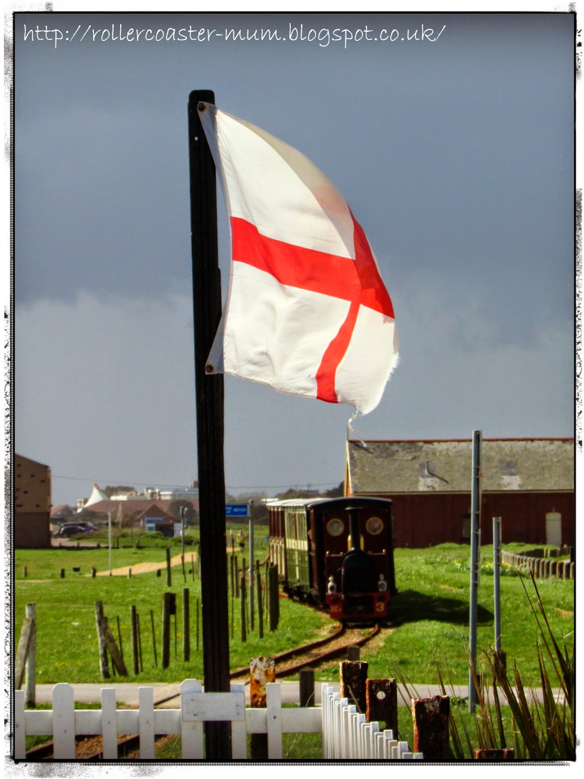 St. George's flag, Hayling Seaside train