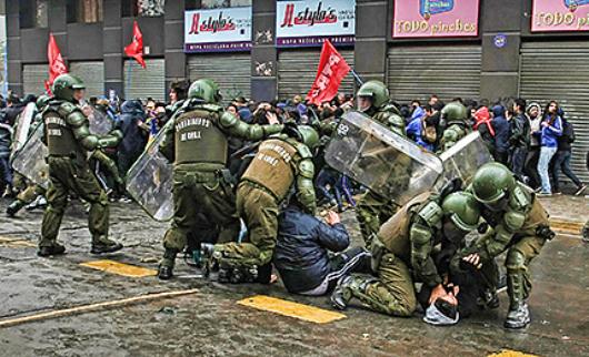Utopia e luta democracia a la chilena 25 detenidos en for Chimentos de hoy en argentina