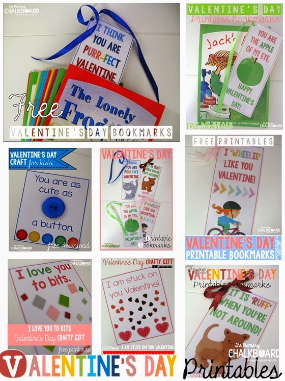 FREE Valentine's Day Printable Gifts: Bookmarks and Crafty Messages