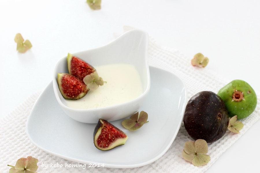 simpler einfacher Nachtisch, Sahnecreme, Panna cotta, Feigen, Südtiroler Foodblog, Rezept