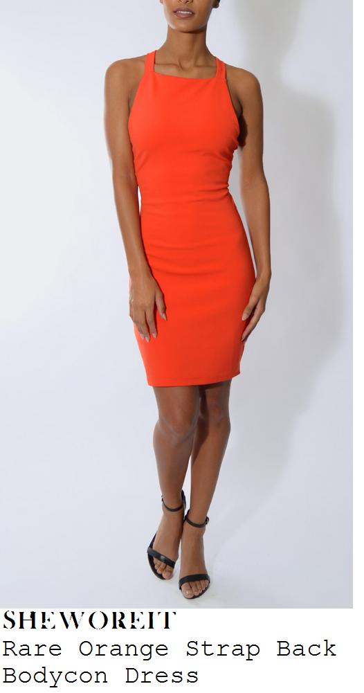 jessica-wright-bright-orange-sleeveless-strap-back-bodycon-mini-dress