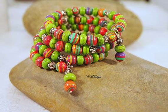 Colorful Memory wire Braclet