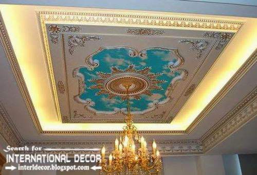 classic gypsum ceiling, gypsum ceiling designs and lights, gypsum ceiling and moldings