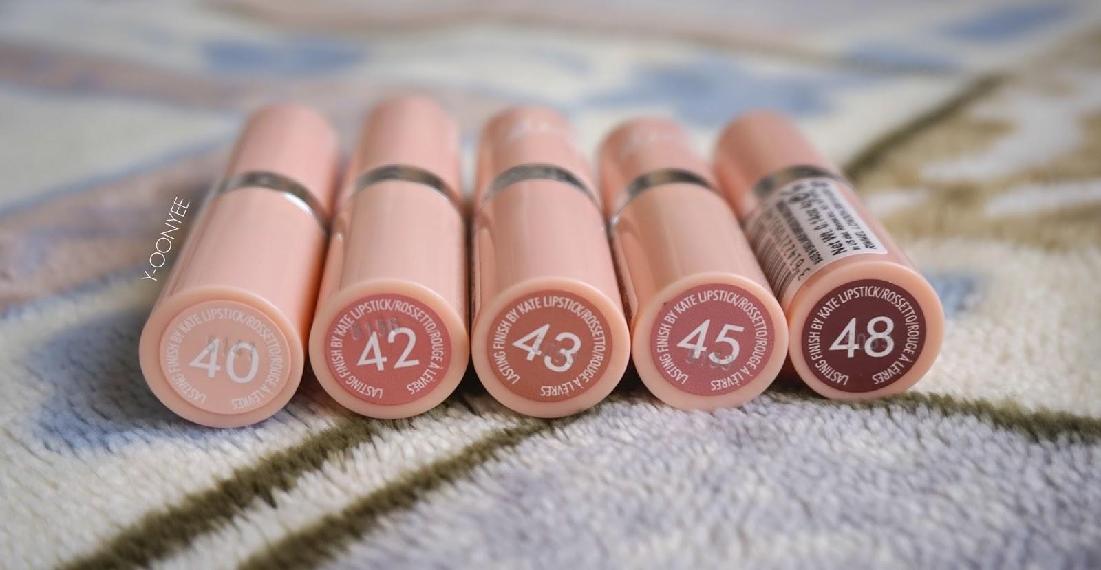 Rimmel London lasting finish by Kate Nude lipstick