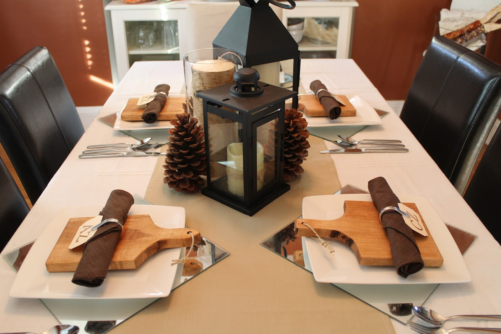 Hammers and High Heels: Holiday Table Decor: Antique Spoon Napkin