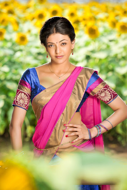 kajal agarwal in half saree latest photos